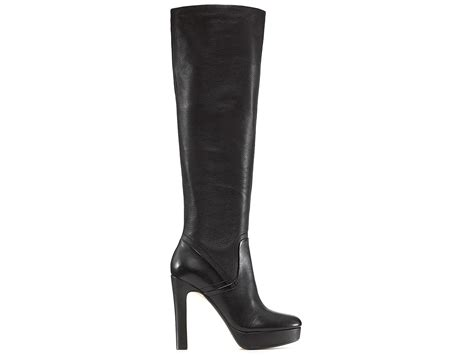 michael kors high heel boots michael kors kors zola high heel boots in black lyst