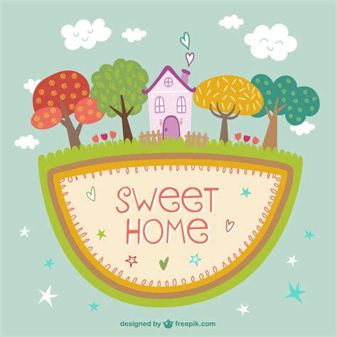 sweet home  trees vector