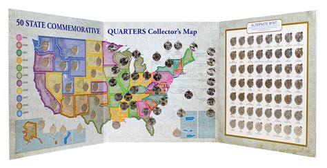 national park quarters collector map 2010 to 2021 includes a bonus san francisco s minted coin books new for collectors of state national park quarters