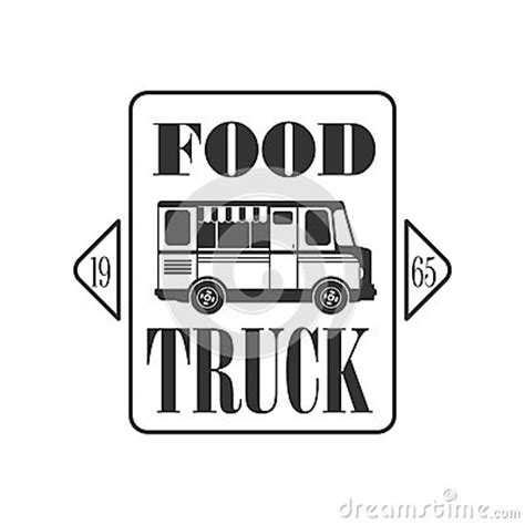 design food truck logo food truck square label design stock vector image 74805010