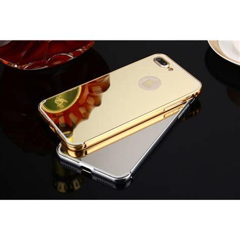Pelindung Iphone 7 Plus Bahan Metalic Aluminium aluminium bumper with mirror back cover for iphone 7 plus silver toko fatih