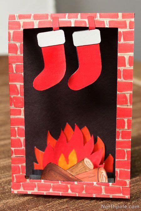 template     cozy fireplace card diy christmas christmas