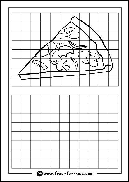 Drawing Grid by Grid Drawings For Drawing With Grids Worksheets