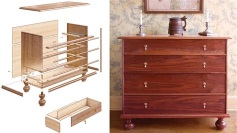 hudson valley chest  drawers finewoodworking