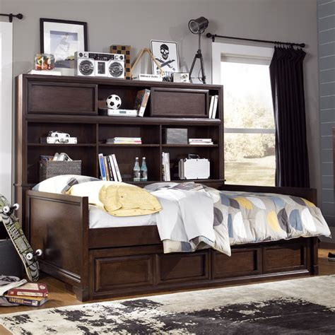 daybed with bookcase headboard grayson bookcase daybed modern daybeds by rosenberry