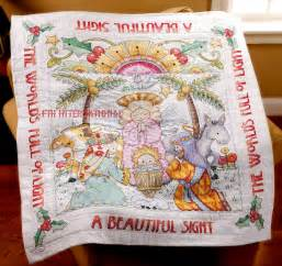 bucilla sted cross stitch beautiful sight quilt kit