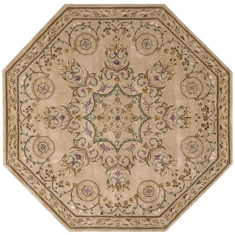 Octagon Outdoor Rug Nourison Versailles Palace Beige 6 Ft X 6 Ft Octagon Area Rug 496058 The Home Depot