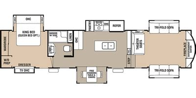cedar creek 5th wheel floor plans 2017 forest river cedar creek hathaway edition 38flx trailer reviews prices and specs rv guide