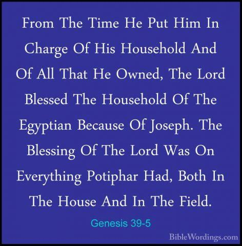 Who Is In Charge Of The House Of Representatives by Genesis 39 Holy Bible Biblewordings