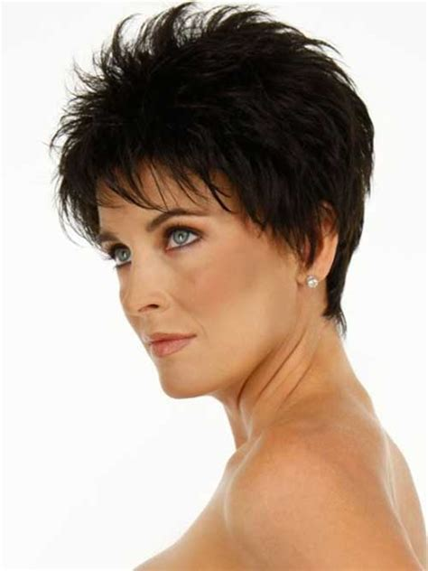 hairstyles formolder women with oval face voluminous classy dark look for older women round face