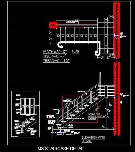 Cad Kitchen Design Software by Ms Mild Steel Staircase And Railing Design Plan N Design