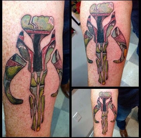 my first mandalorian skull tattoo star wars ideas