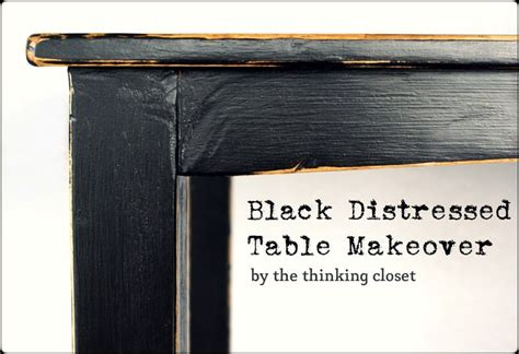 black distressed kitchen table black distressed table makeover