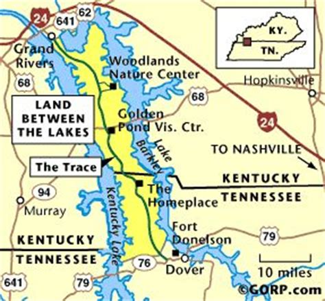 kentucky land map map of the land between the lakes travel