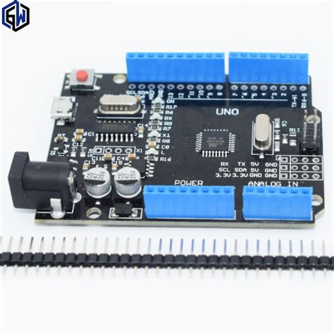 integrated circuit arduino uno one set tenstar robot new 2016 uno r3 atmega328p ch340g microusb compatible for arduino uno rev