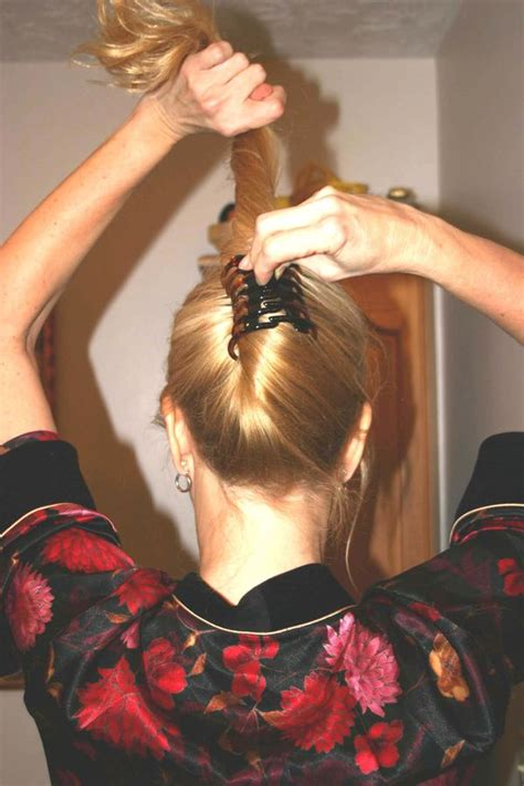 how to make hair updo claw clip wahsega valley farm flippy updo