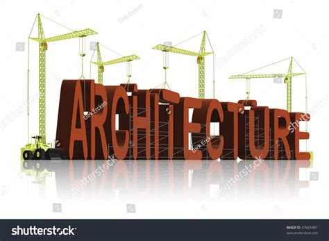 home design words architecture construction 3d words creation stock illustration 47665981