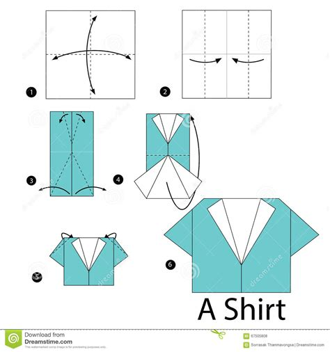 How To Make A Paper Shirt - step by step how to make origami a shirt