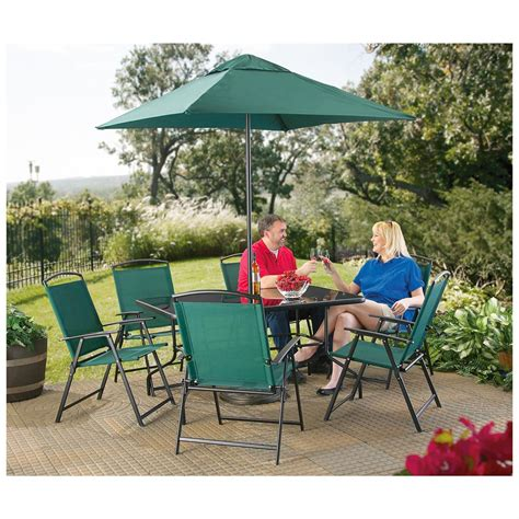 8 Chair Patio Set 8 Pc Castlecreek 174 Wide Chair Patio Set Forest Creek 234372 Patio Furniture At Sportsman S Guide