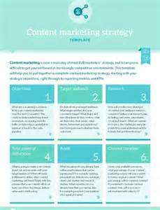 Content Marketing Strategy Template by Template Content Marketing Strategy B2b Marketing