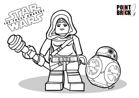 lego bb 8 coloring page disegni da colorare star wars the force awakens lego