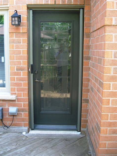 Exterior Doors With Screens And Windows Entry Door Retractable Screens Contemporary Screen Doors Toronto By Invisible Screens Canada