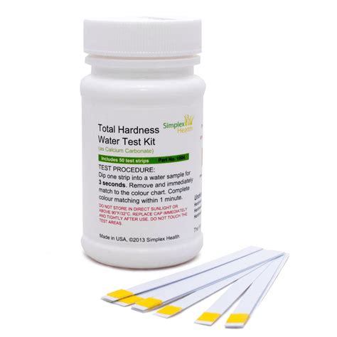 Water Hardness Test Kit Simplexhealth Total Hardness Test Strips 50 Strips