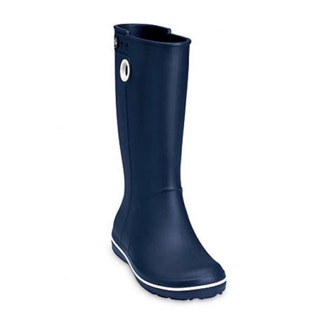 crocs boots crocs crocs crocband jaunt navy z26 womens wellie
