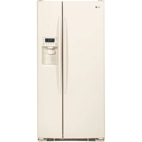 bisque colored refrigerators 28 images shop ge profile ge profile 34 in w 23 1 cu ft side by side refrigerator