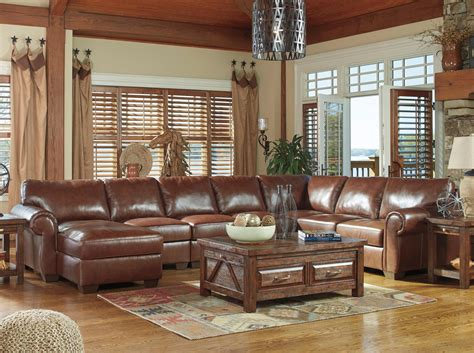 5 piece sectional sofa with chaise signature design by ashley lugoro leather match 5 piece
