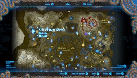 legend of zelda full map legend of zelda breath of the wild review usgamer