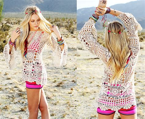 Wst 12189 Flower Crochet Top Wst shea unif crochet top flowers in hair lookbook