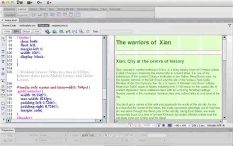 dreamweaver tutorial fluid grid 20 adobe dreamweaver cs6 tutorials for web designers