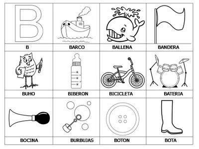 imagenes en ingles que empiecen con i laminas con dibujos para aprender palabras y colorear con