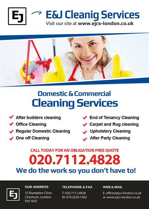 e j cleaning services flyer design smartunit