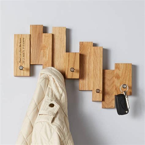 designer coat hooks oak blocks coat rack by mijmoj design notonthehighstreet com