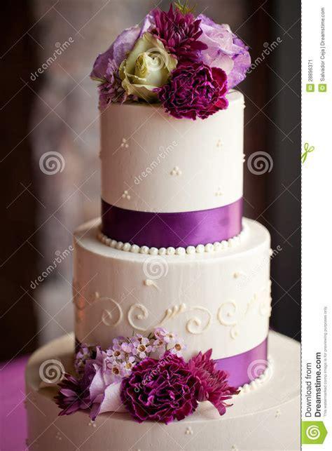 Wedding cake with flowers stock image. Image of bride