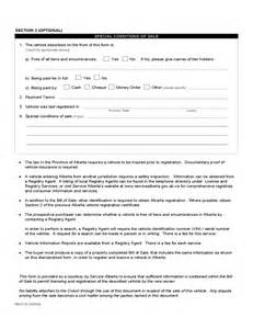 Used Car Sale Form Alberta Vehicle Bill Of Sale Form Alberta Free
