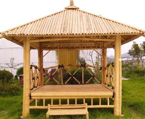 pavillon 9x3 contoh gazebo bambu minimalis sederhana dan keren hal lima