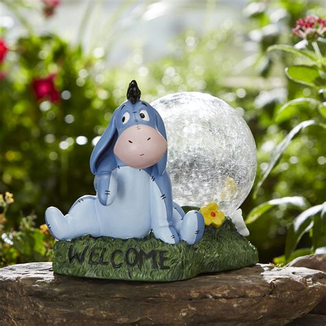 disney disney gazing with timer eeyore outdoor living outdoor decor lawn ornaments