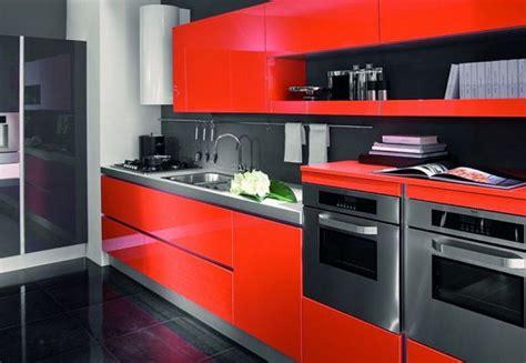imagenes de cocinas integrales rojas decoraci 243 n de cocinas rojas