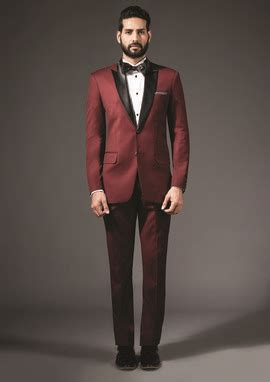 wine colored bow tie wine coloured tailor made suit indian groom wear black
