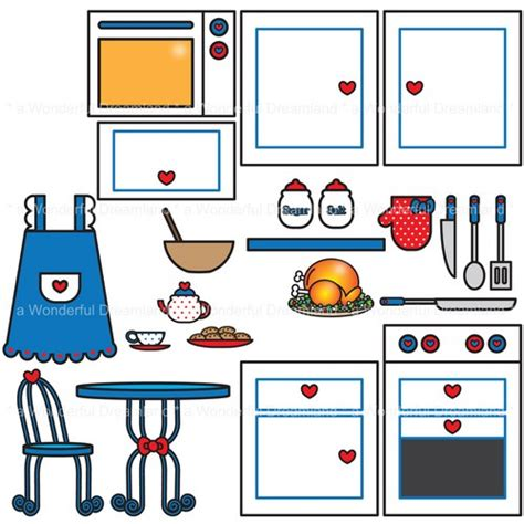 printable kitchen images printable digital clipart clip art pdf png file kitchen