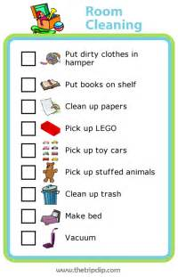 week 5 room cleaning checklist the trip clip