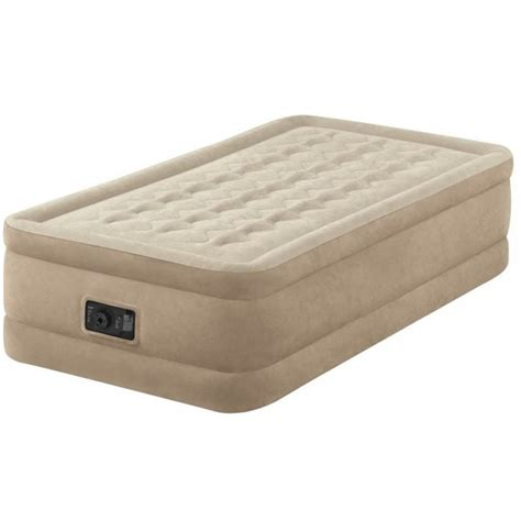 intex bed intex fiber tech ultra plush single size airbed with built in electric pump only