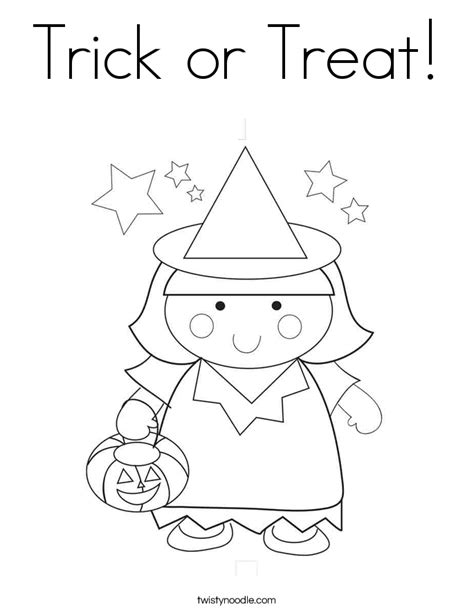 Pages Trick Or Treat For Unicef Coloring Pages Trick Or Treat Coloring Page