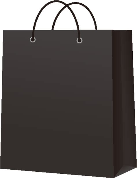 Jual Paperbag paper bag black vector icon svg vector domain