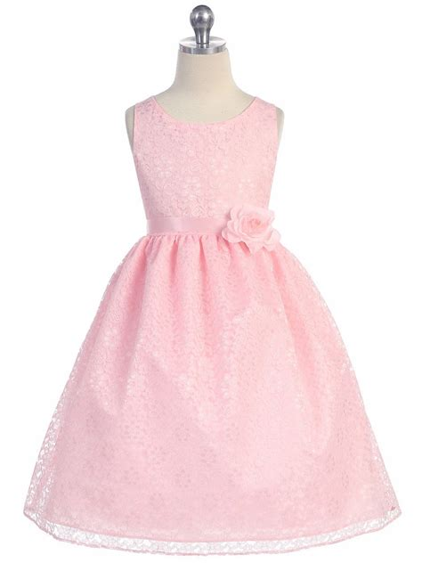 Flower Lace Dress Black Pink Ml pink floral lace dress