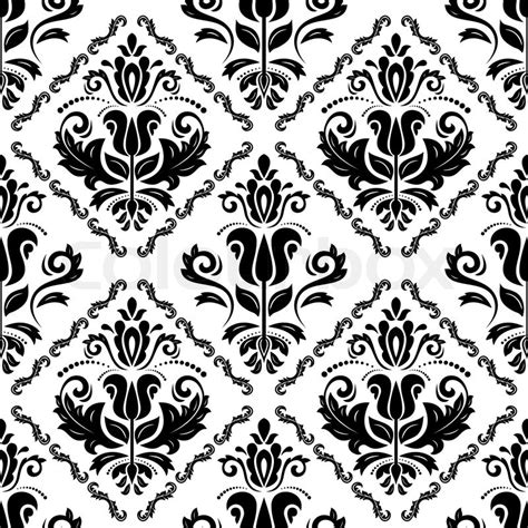 oriental pattern black and white floral vector oriental pattern with damask arabesque and