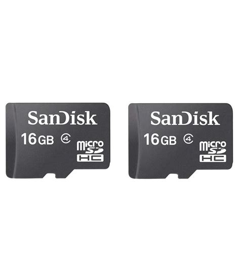 Memory Sandisk 16gb Class 4 sandisk 16gb class 4 memory card black pack of 2 memory cards at low prices